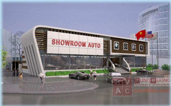 Thiết kế showroom auto Phúc Tăng - Hải Phòng