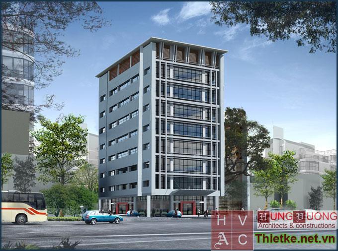 Thiết kế trụ sở công ty taxi Thiên Đức - Vĩnh Yên