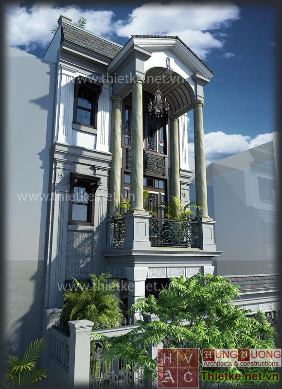 Nhà phố phong cách pháp cổ