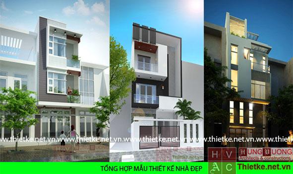 mẫu thiết kế kiến trúc nhà phố đẹp